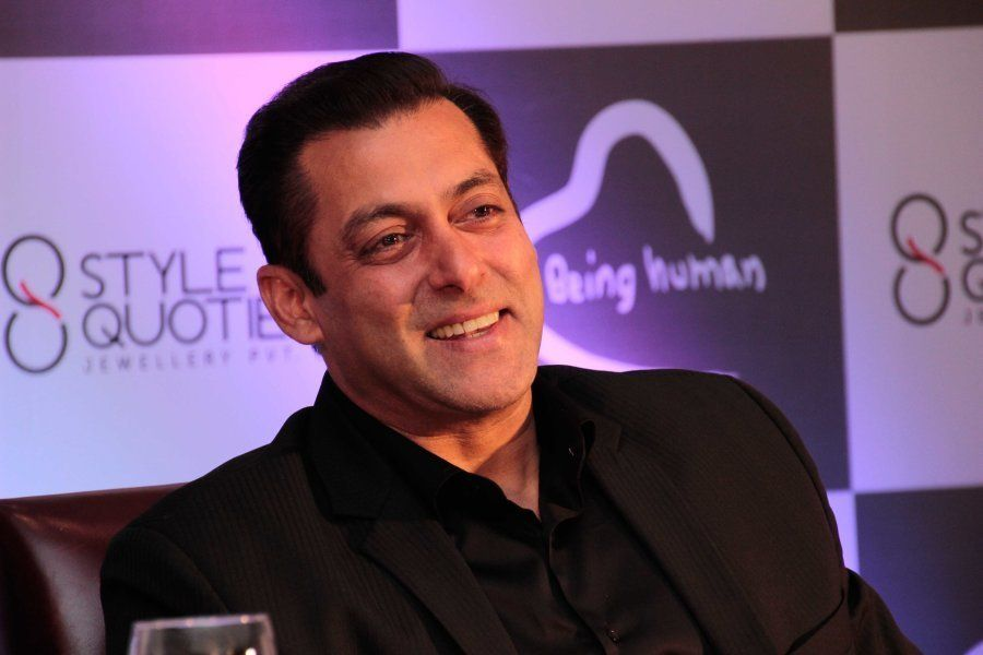 Salman Khan during the launch of Being Human Jewellery at Hotel Shangri-La, on September 30, 2016 in...