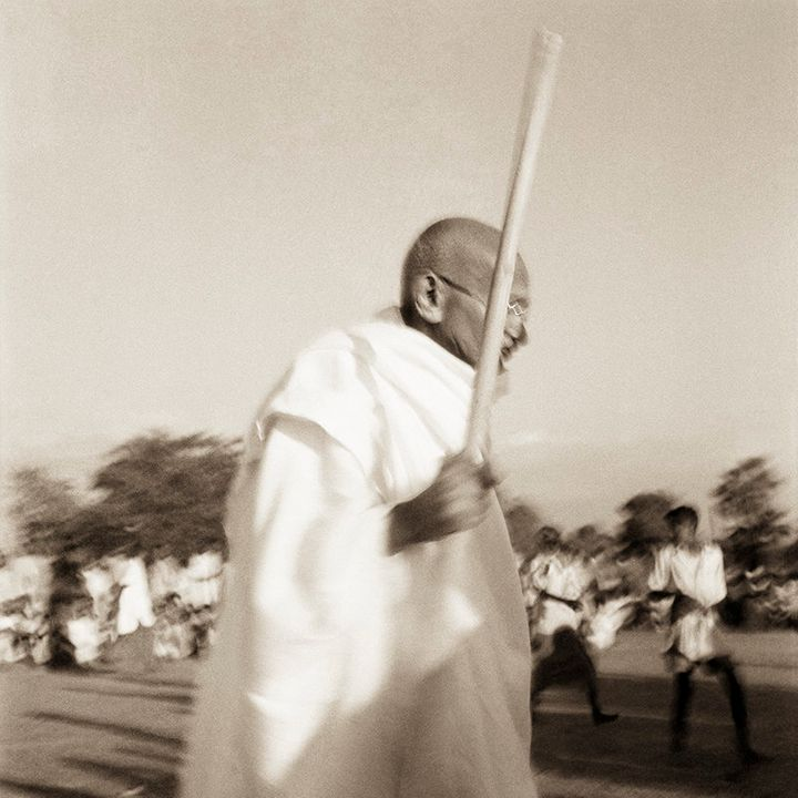 Mahatma Gandhi in the riot affected areas of Noakhali, East Bengal, 1946.