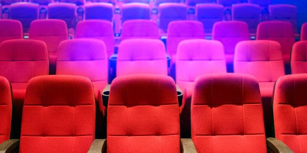 Rows of theater seats