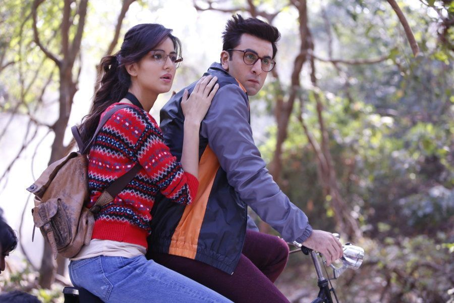 Katrina Kaif and Ranbir Kapoor in a still from 'Jagga Jasoos.'