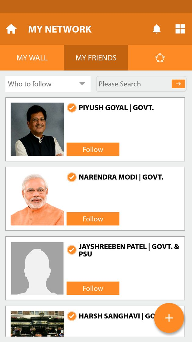 Narendra Modi's App Gives Orange Tick To Active