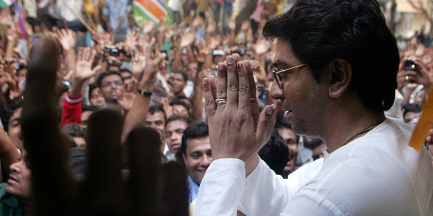 MNS leader Raj Thackeray greeting well wishers at his