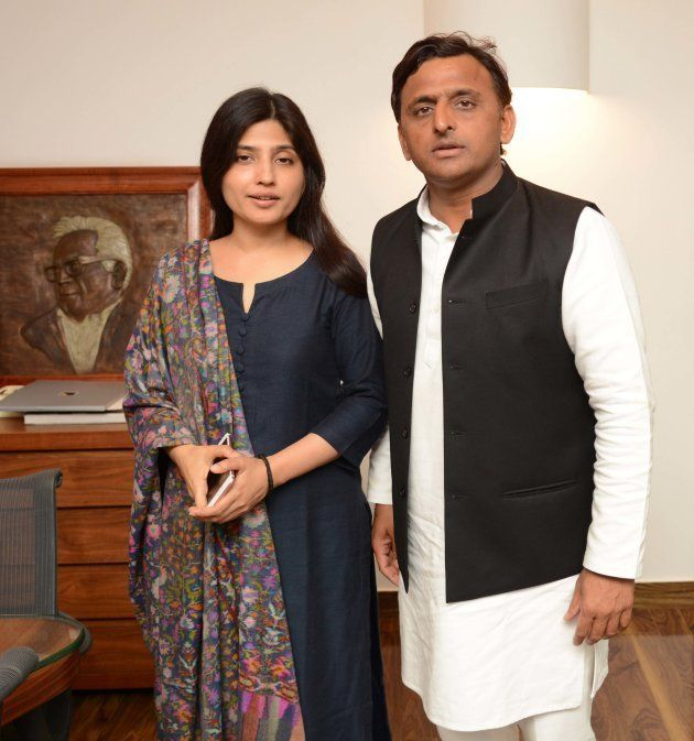 (This is an exclusive image of Hindustan Times) Uttar Pradesh Chief Minister Akhilesh Yadav with his...