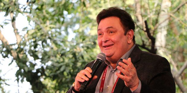 Bollywood actor Rishi Kapoor speaks during the Jaipur Literature Festival at Diggi Palace in