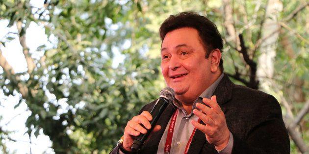 Bollywood actor Rishi Kapoor speaks during the Jaipur Literature Festival at Diggi Palace in Jaipur.
