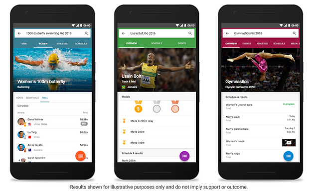 Google Integrates Special Rio Olympics Experience In
