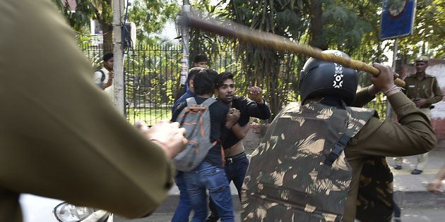 NHRC Notice To Delhi Police Over Alleged Excesses During ABVP-AISA Clash Outside