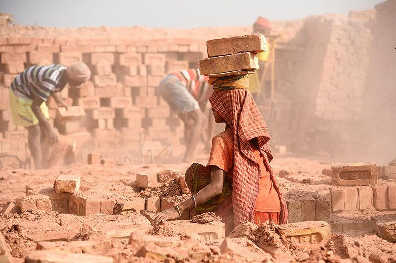 There are thousands of children like Pawan who spend the childhood working in the nearly 250 brick kilns...