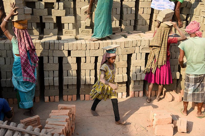 These brick kilns serve as a source of livelihood for thousands of unskilled labourers from Bihar, Uttar Pradesh and Jharkhand. The seasonal nature of the work attracts migrant labourers, many of them are landless farmers.