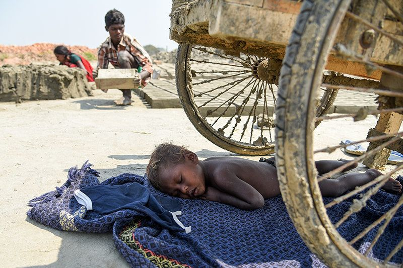 Children are often forced to sleep in the scorching sun. Even basic education and medical treatment is...