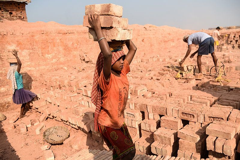 A female child labourer recalls,