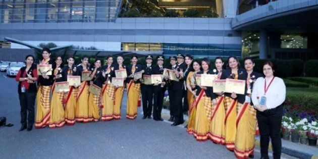 Air India Just Flew Into The Record Books By Making First Journey Around The World With All-Women