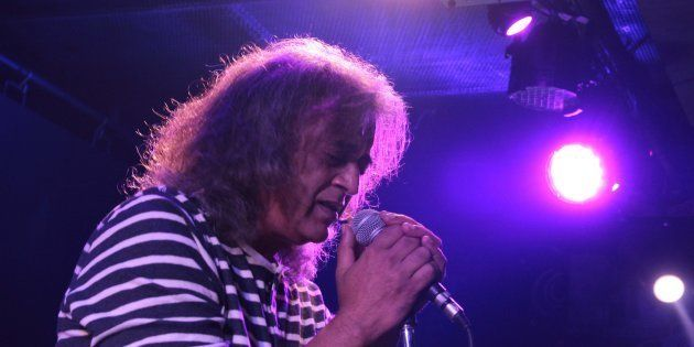 Bollywood singer and composer Lucky Ali performing at FLYP@MTV Cafe, Connaught Place, on April 29, 2017...