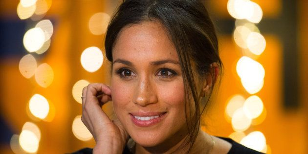 Meghan Markle visits radio station Reprezent FM, with her fiancee Britain's Prince Harry, in Brixton,...