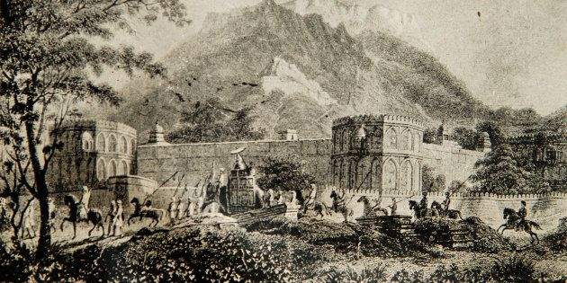 The magazine in 1818 A.D. Akbar's Palace at