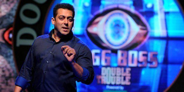 Salman Khan on the Bigg Boss set in