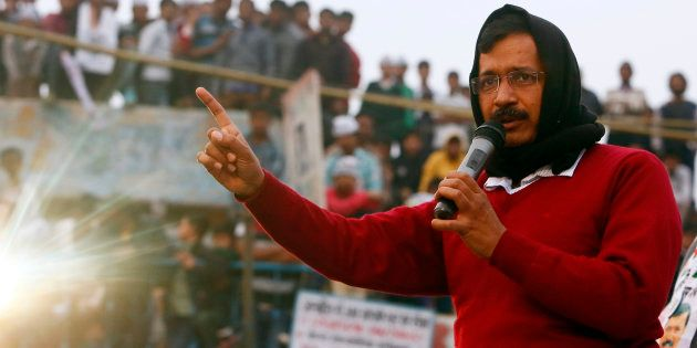 Arvind Kejriwal addressed a campaign rally ahead of state assembly elections in New
