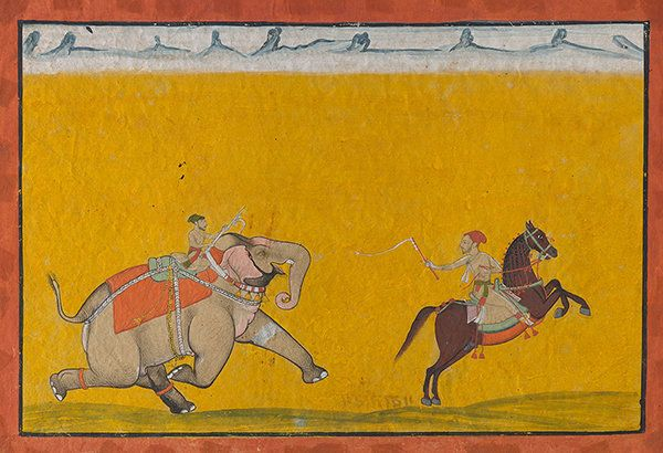 A miniature (circa 1685) signed by Wajid of Isarda, from the Motichand Khajanchi collection. The painting is estimated at INR 8 - 10 lakhs and will be auctioned on 9 March.