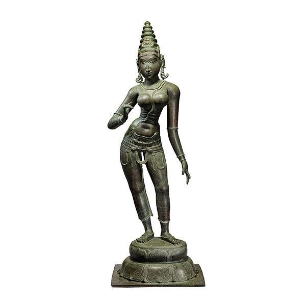 The 15th century bronze Parvati from the collection of Khorshed Karanjavala which sold for INR 6.48