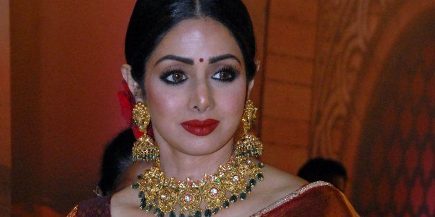 Indian Bollywood actress Sridevi attends the 'Zee Cine Awards 2018' ceremony in Mumbai on December 19,...
