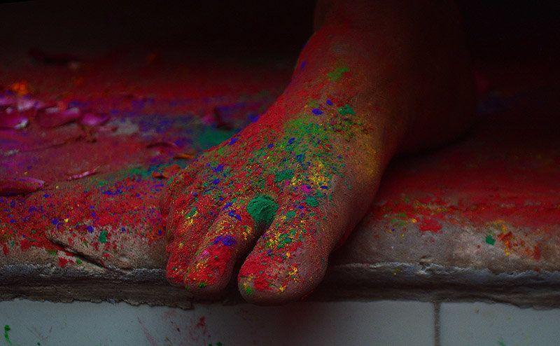 Leaving a colourful