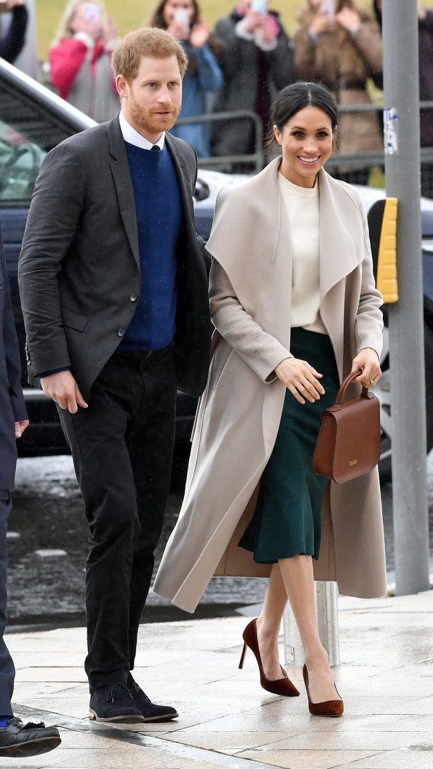Prince Harry and Meghan Markle on their trip to Northern Ireland on March 23, 2018.