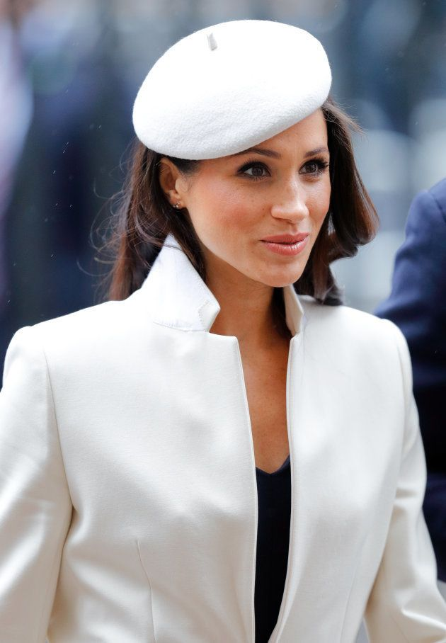 Meghan Markle attends the 2018 Commonwealth Day service at Westminster Abbey on March 12,