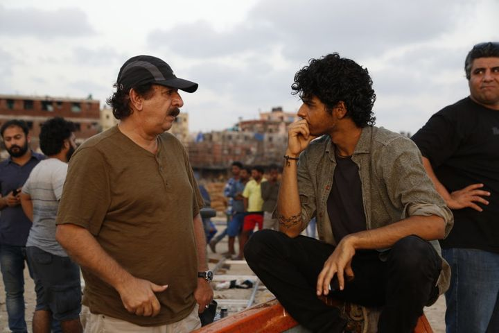 Majid Majidi with Ishaan on the location shoot for 'Beyond the Clouds.'
