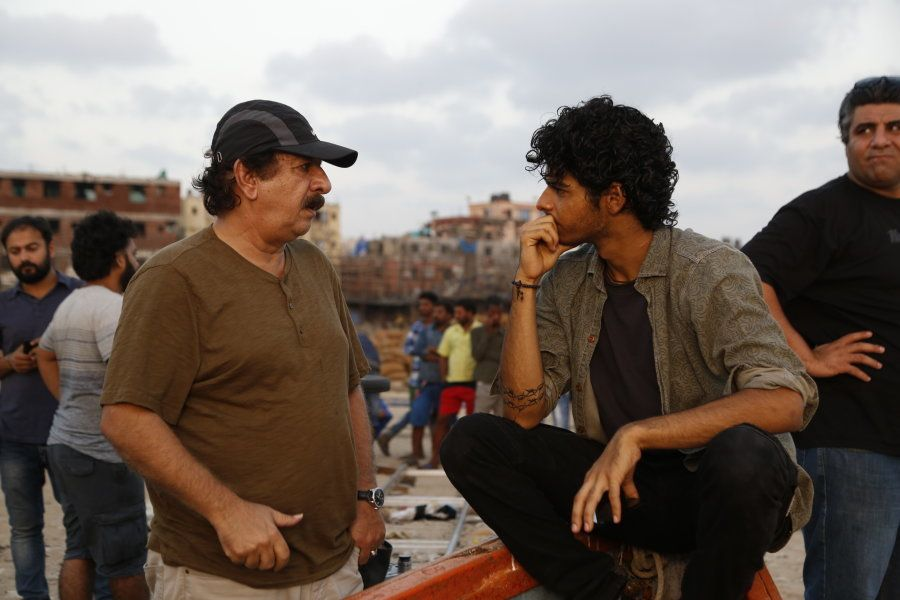 Majid Majidi with Ishaan on the location shoot for 'Beyond the