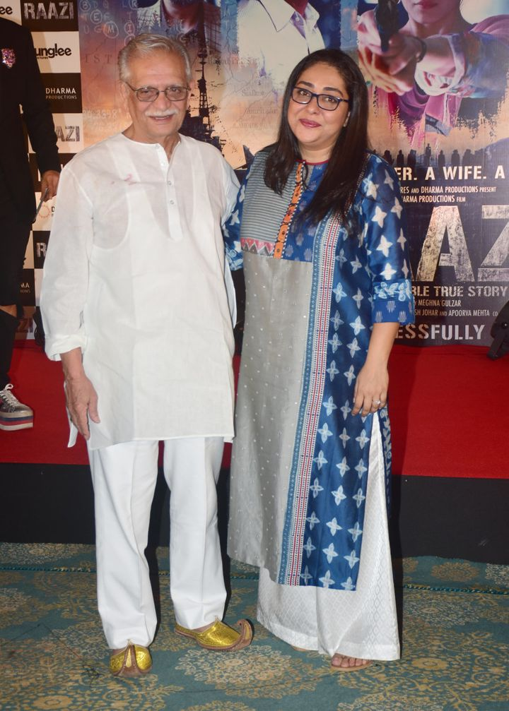 Meghna with her father, Gulzar.