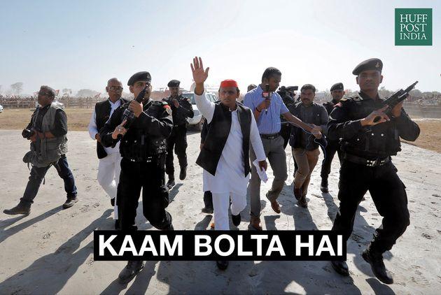 Akhilesh Yadav, Chief Minister of the northern state of Uttar Pradesh and Samajwadi Party (SP) President,...