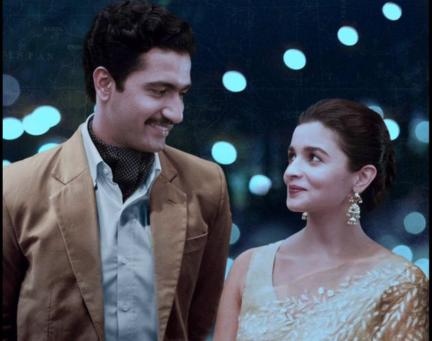 Vicky Kaushal and Alia Bhatt in a still from