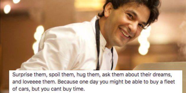 Vikas Khanna's Post On His Father Will Make You Hug Your