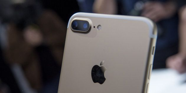 The dual cameras are seen on a Apple Inc., iPhone 7 Plus during an event in San Francisco, California,...