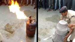 This Is How You Douse A Fire Caused By A Leaking Cylinder In One Quick