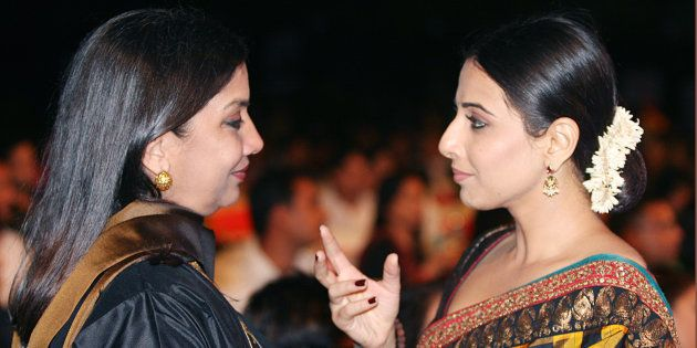 Actors Shabana Azmi and Vidya
