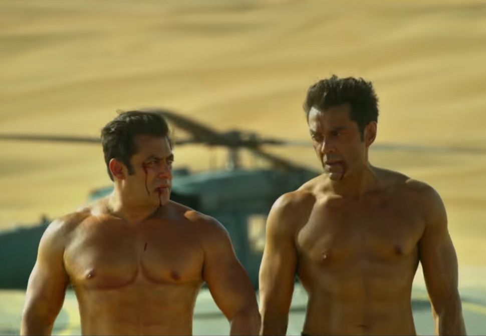 Salman Khan and Bobby Deol in a still from 'Race 3'