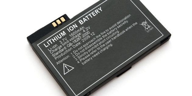 Lithium ion battery for electronic devices isolated on
