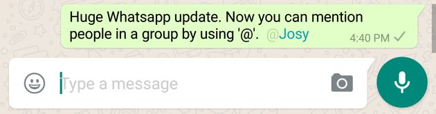 WhatsApp Rolls Out 'Mentions' And GIF Support On iOS And
