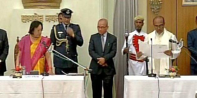 N. Biren Singh Sworn In As CM As Manipur Gets Its First BJP-Led
