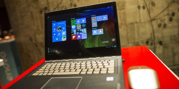 A Lenovo Group Ltd. Yoga tablet