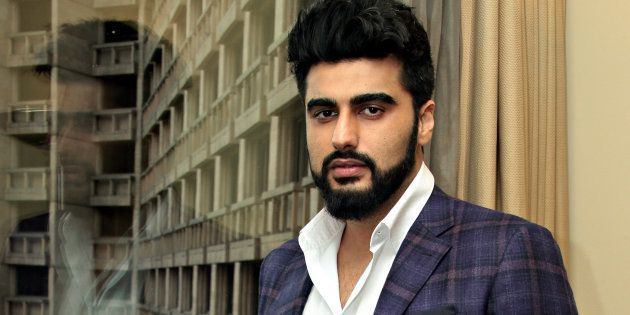 NEW DELHI, INDIA - AUGUST 29: Bollywood actor Arjun Kapoor poses for photograph on August 29, 2017 in New Delhi, India. (Photo by Shivam Saxena/Hindustan Times via Getty Images)