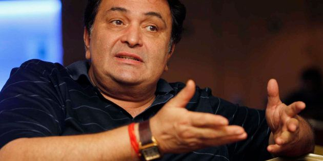 Bollywood actor Rishi Kapoor speaks during a news conference for his forthcoming