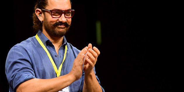 Bollywood actor Aamir Khan attends the 5th Indian Screenwriters Conference in Mumbai on August 1, 2018....