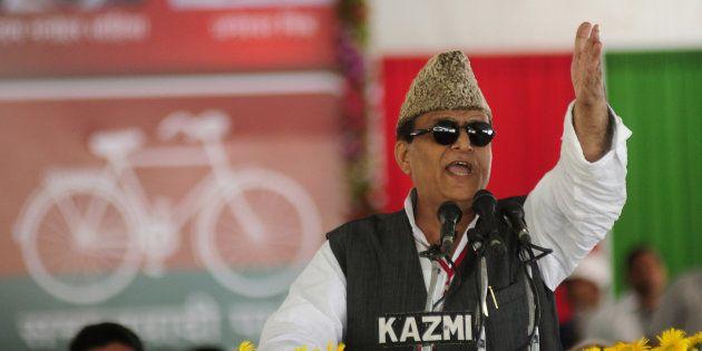 Azam Khan addressing party