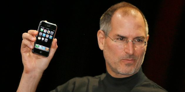 Apple chief executive Steve Jobs unveils a new mobile