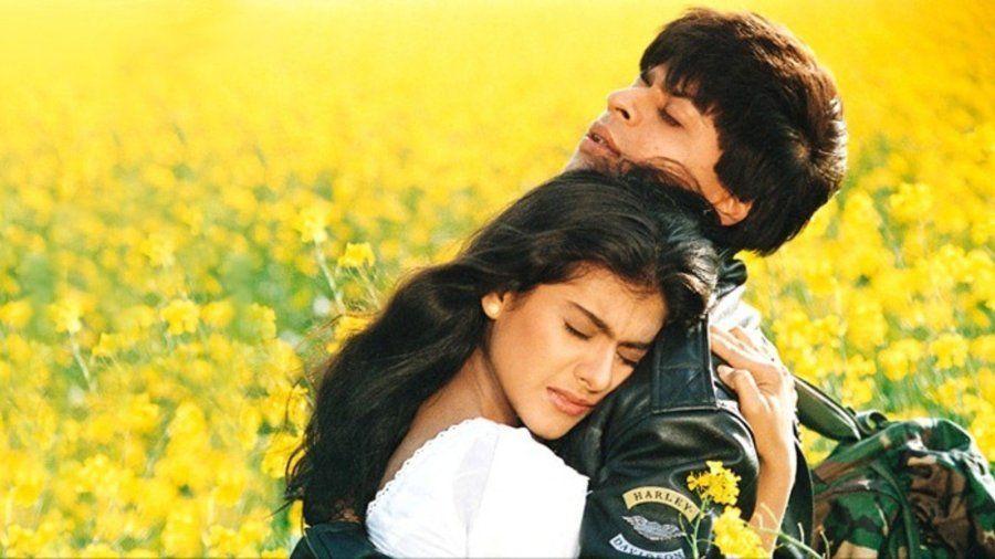 Shah Rukh Khan and Kajol in DDLJ.
