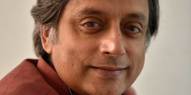 Congress MP Shashi Tharoor poses at the Jaipur Literature Fest 2017, on January 19, 2017 in Jaipur,