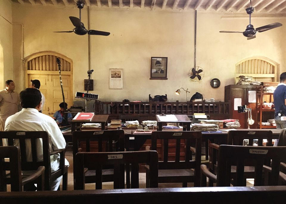 The actual set of the Lahore court created by Rita Ghosh and