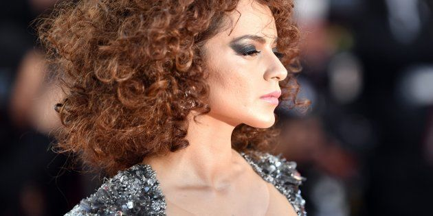 CANNES, FRANCE - MAY 11: Indian actress Kangana Ranaut arrives for the screening of the film 'Ash Is...